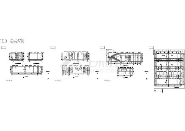 哈工大教学楼装修设计图纸.-图二