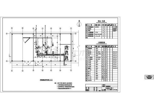 广东某污水处理厂套CAD图(共8张图纸)-图一