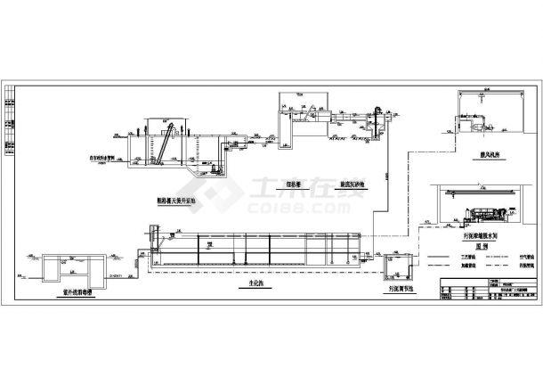 广东某污水处理厂套CAD图(共8张图纸)-图二