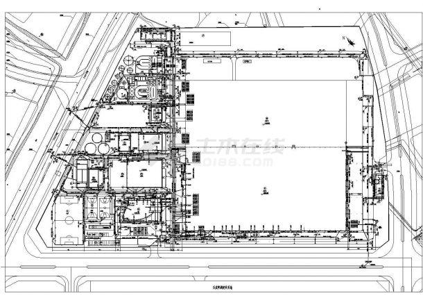 某饮料企业废水施工CAD图纸-图一