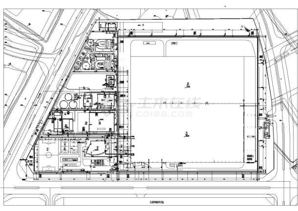 某饮料企业废水施工CAD图纸-图二