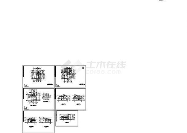 独幢别墅方案设计CAD图纸(共6张图纸)-图一