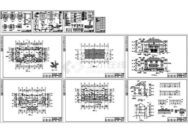广州冠迪花园双连别墅施工CAD图(共10张图纸)-图一