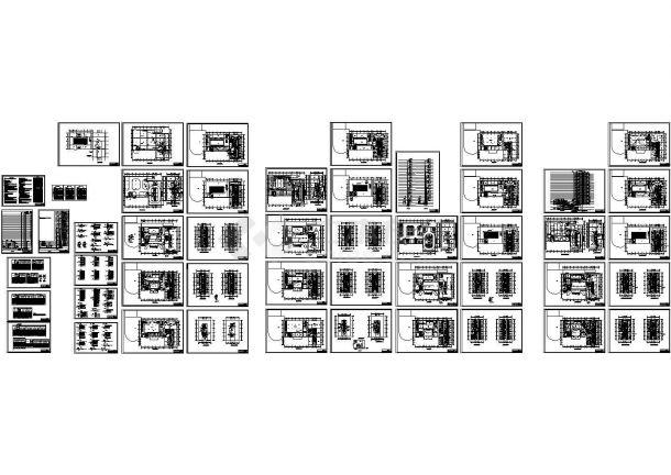 某二十七层酒店电气设计图纸,标注明细-图一