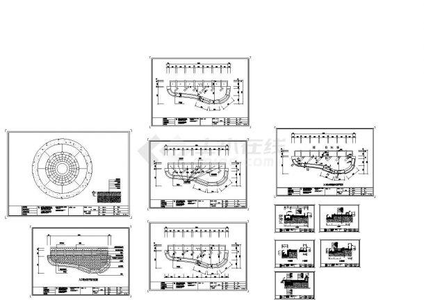 某小区入口喷水池施工大样CAD图纸设计-图一