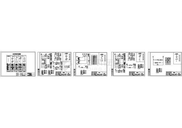 某科技产业园配电工程4台高压柜设计cad全套电气施工图(一次二次设计)-图一