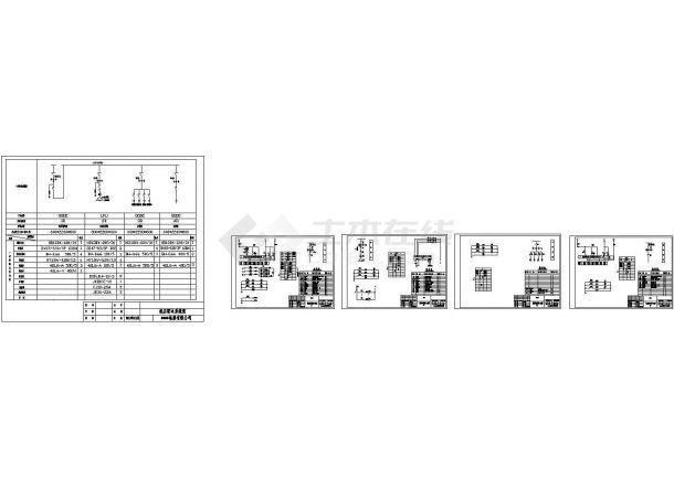 某工业生产车间区配电工程低压开关柜(4台GGD)设计cad全套电气施工图(一次二次设计)-图一