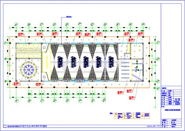 某地国际休闲度假酒店装修设计施工CAD图(含效果)-图二
