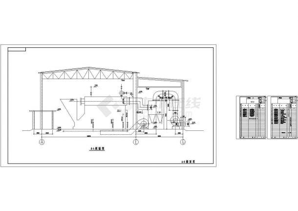某20t热水锅炉房设计施工CAD图(6个CAD文件)-图二