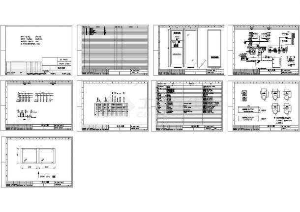 电力大楼直流屏50Ah110VCAD图纸-图一