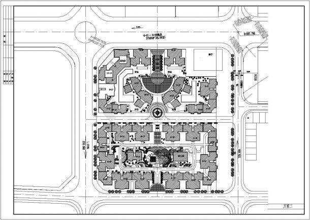 某地小区规划建筑总平面图(共2张)-图二