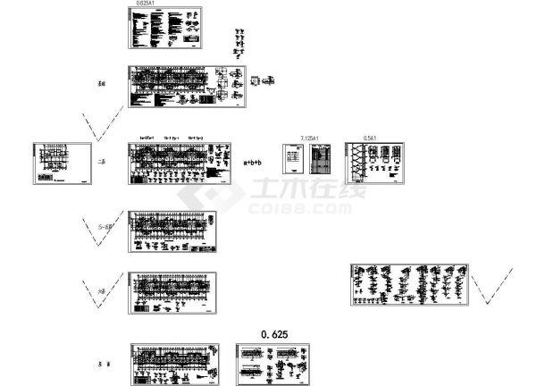 4200平六层住宅楼建筑施工cad图(含计算书,毕业设计)-图二