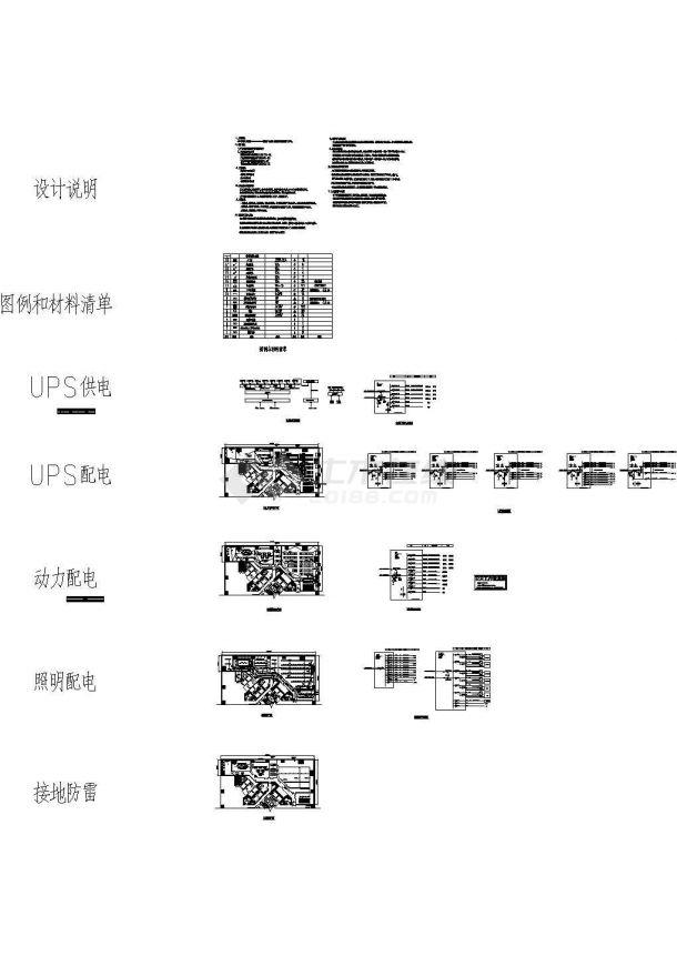 数据机房电气设计图纸-图一