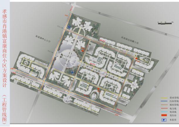 居住区工程管线规划图对吗?-图一