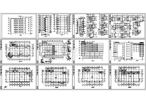 商办楼建筑方案图-图一