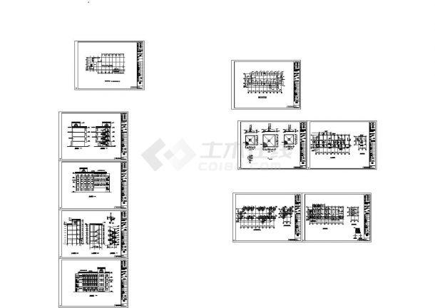 局部五层教堂施工组织设计及工程量清单报价(含10张CAD图、施工总平图)-图一