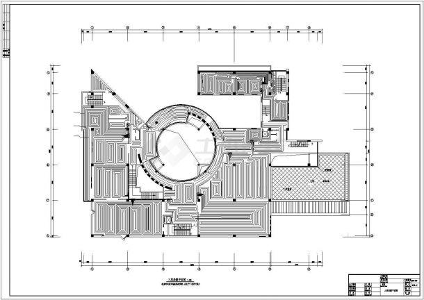 文化博物馆地板辐射采暖系统设计施工图-图一