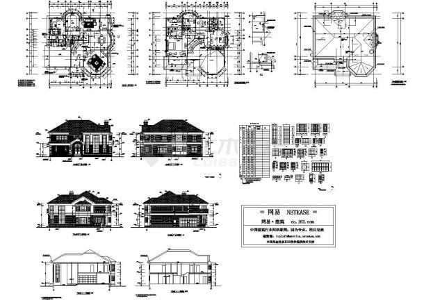 某小区二层楼别墅3D模型设计方案图-图一