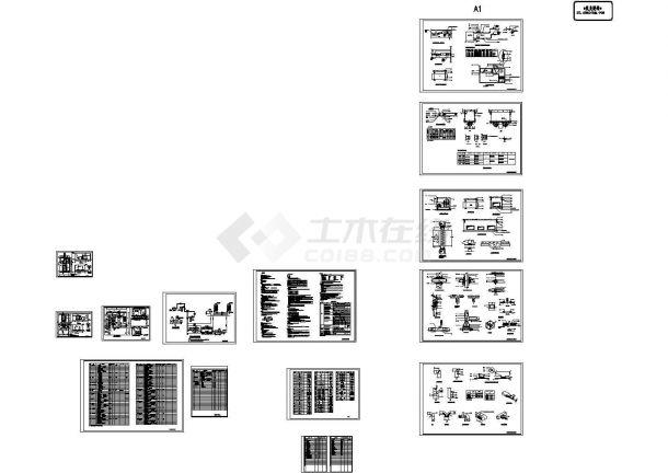 中学体育馆多联机空调工程暖通设计图纸-图二