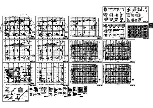 四层建材商场空调暖通施工cad图,共十九张-图一