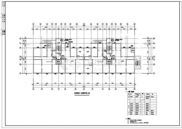 高层住宅地下室疏散设计图的完整CAD图纸-图一