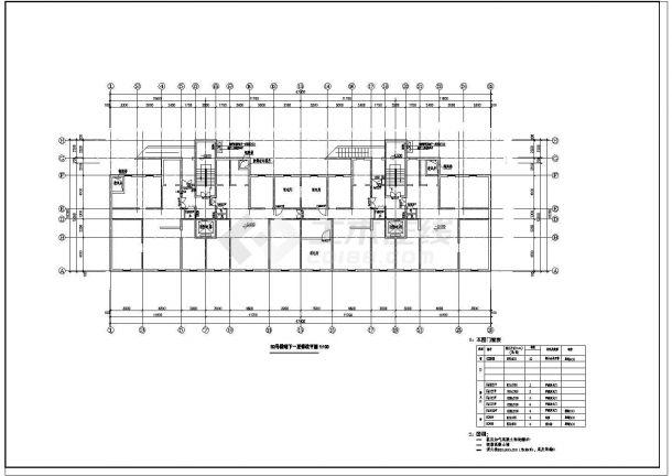 高层住宅地下室疏散设计图的完整CAD图纸-图二