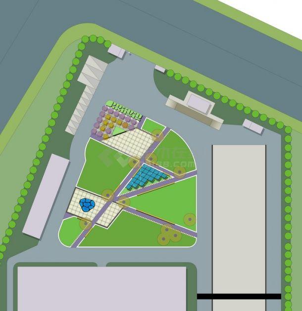 厂区绿化景观设计-图一