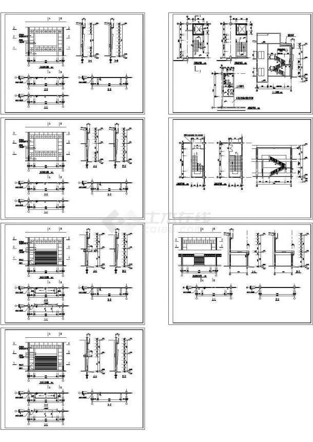 某含夹层钢结构厂房设计cad全套建筑施工图(含结构设计)-图一