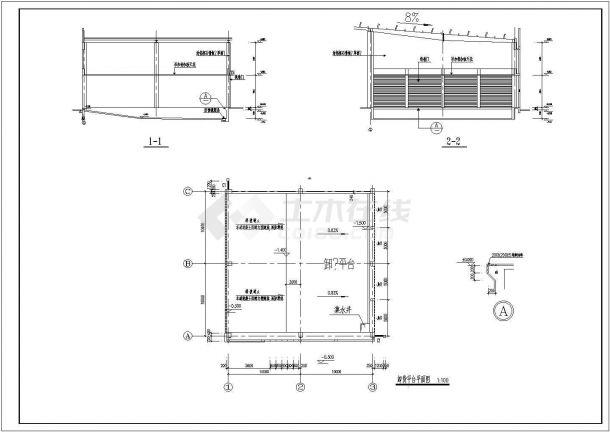 某含夹层钢结构厂房设计cad全套建筑施工图(含结构设计)-图二