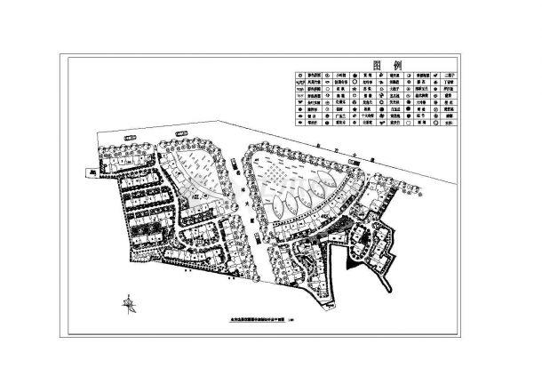 某花园园林规划设计总平面CAD图-图一