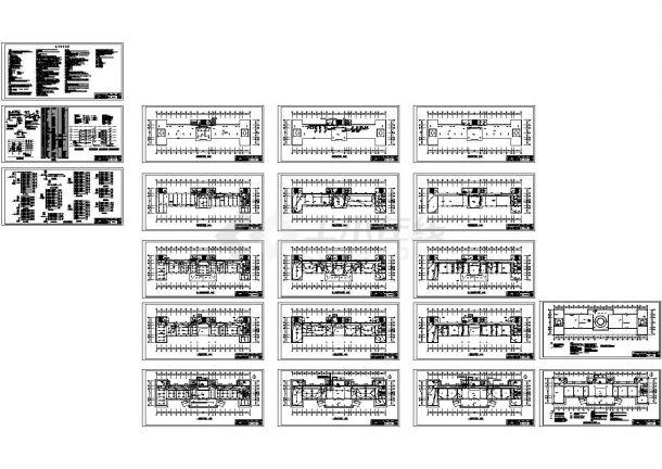 4656平方米五层框架结构办公楼全套电气施工cad图,共二十张-图一