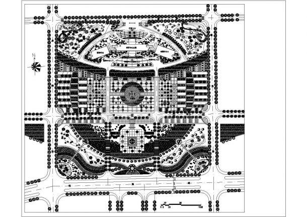 某时代广场景观绿化规划设计图纸-图一