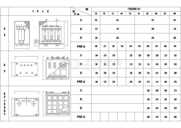 某变电所施工大样图块-变压器电气设计图-图一