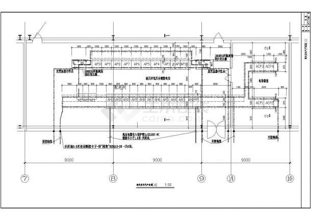 某带电3000KVA高低压配电室厂房电气设计图-图一