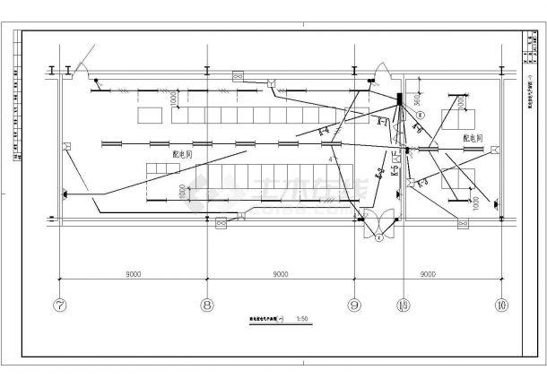 某带电3000KVA高低压配电室厂房电气设计图-图二