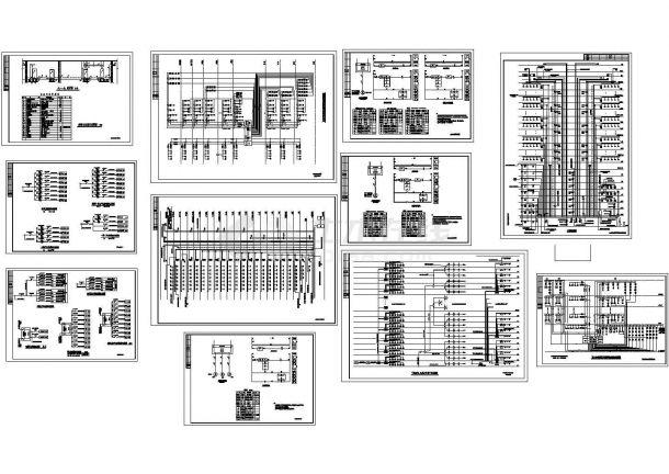 某带有变配电室剖面布置的高层电气系统图-图一