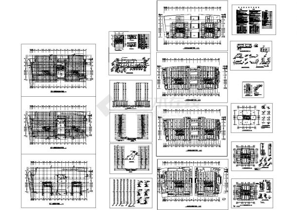 河南某二十四层高层办公楼给排水设计CAD图纸-图一