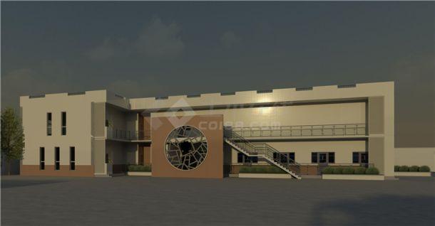 加油站服务区BIM项目模型Revit-建筑-图二