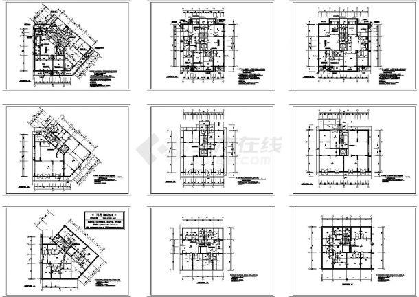 某城镇带地下室小区建筑设计立面图-图一