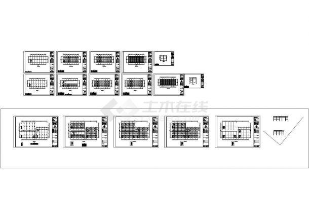 某地4层框架钢结构住宅楼设计cad施工图(带PKPM模型图纸)-图一