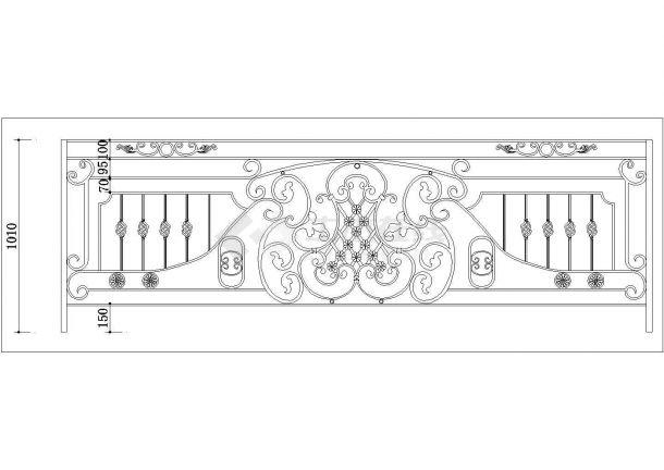 44种不同形式工程铁艺栏杆设计图纸-图一