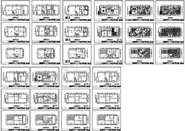 三层别墅空间平面装修图-图一