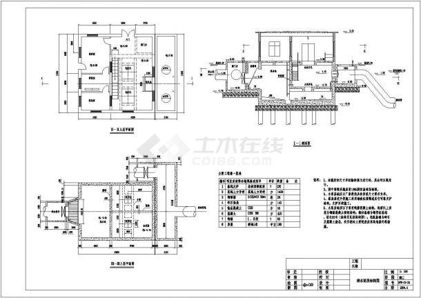 给水泵站设计_某地区排水泵站结构设计方案图纸(技术施工阶段) - 土木在线