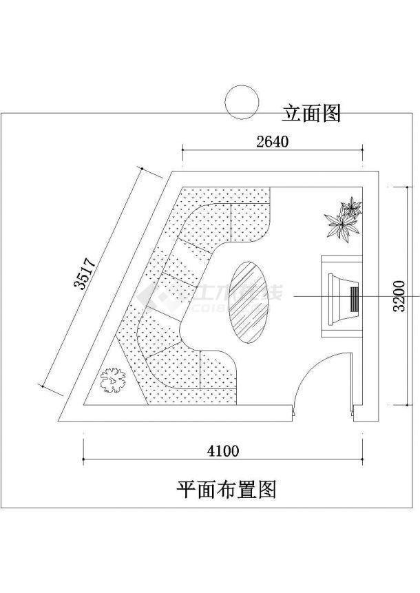 某地景点园林规划设计平面图(全套)-图一