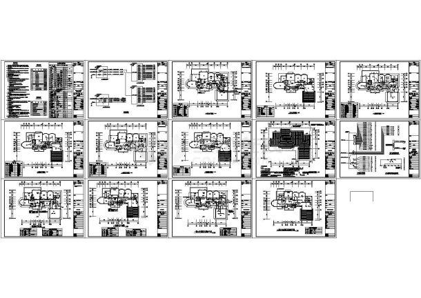 某带有动力箱配电系统的别墅电气设计施工图-图一