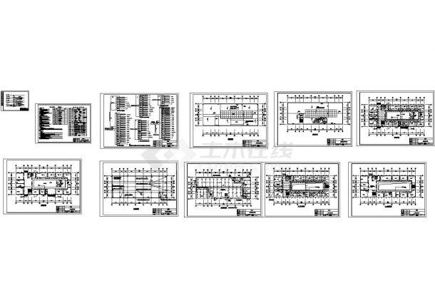 某办公楼电气照明设计cad图,含设计说明-图二