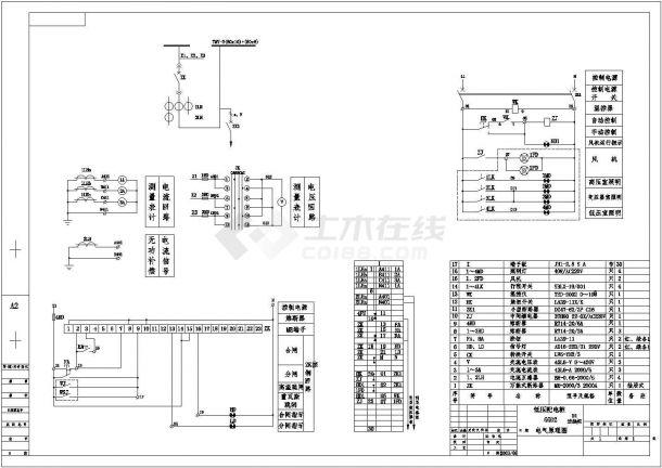 箱式变压器一二次电气设计原理图纸-图一