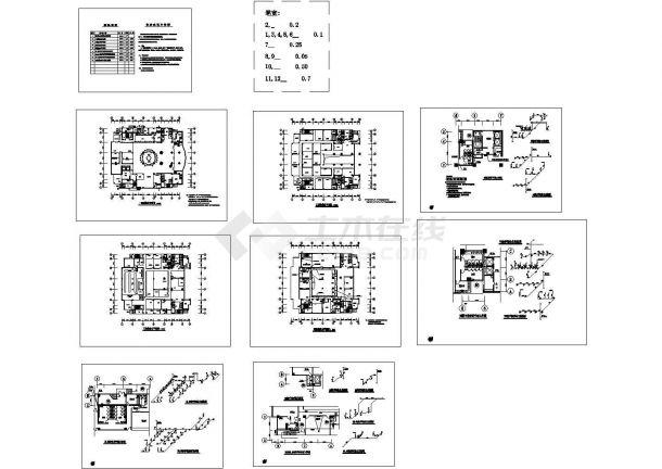 某8000㎡四层银行给排水设计施工图-图一