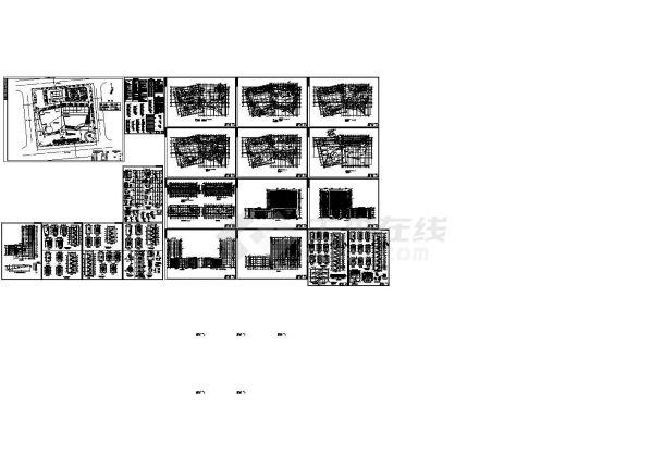 某3.3万平米十六层酒店建筑施工图-图一