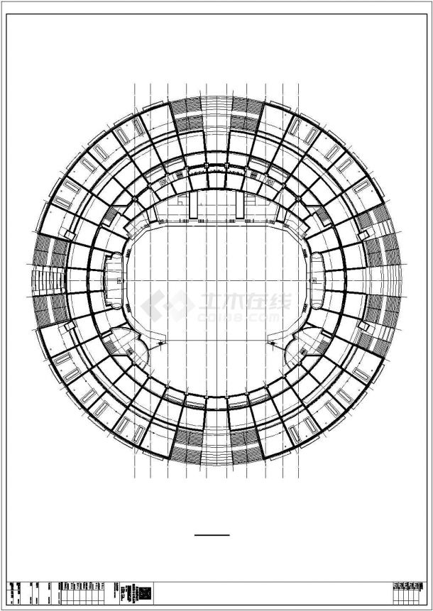 [河北]三层框架结构拱形体育馆建筑施工图-图二